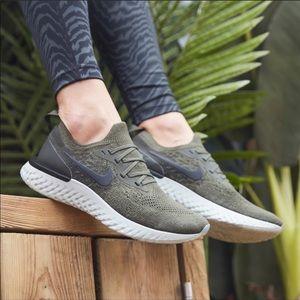Brand New Nike Epic React Flyknit Khaki Olive